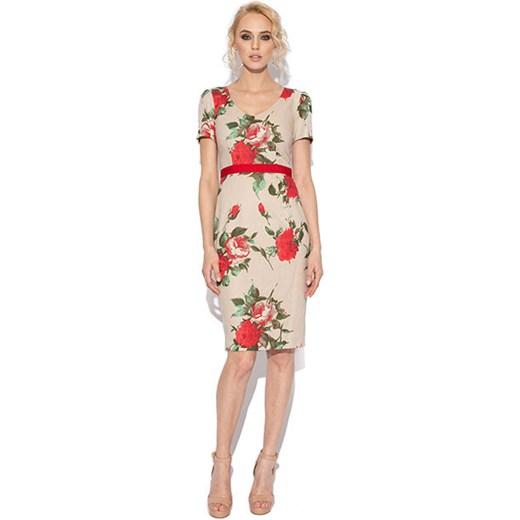 026fa5293e Sukienka ołówkowa w kwiaty Nissa 50 showroom.pl promocyjna cena