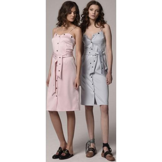 238f91a4 Sukienka midi na ramiączkach z nitami Le Désir showroom.pl