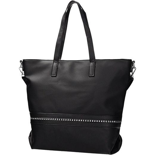 f46f2d266c72c Klasyczna torebka damska w kolorze czarnym z ozdobną taśmą DANBLINI JK 1219 Danblini  Fashion Di Zdhou ...