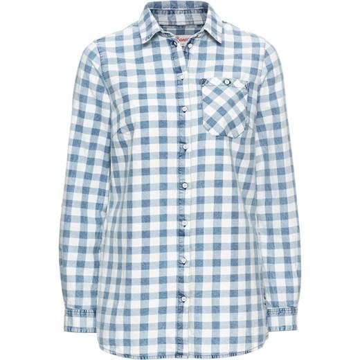 2e492edd1a7ac1 Koszula w kratę, z efektem wytarcia, długi rękaw John Baner JEANSWEAR  bonprix w Domodi