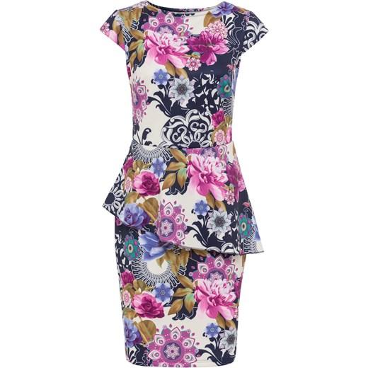5beba47ecf Sukienka w kwiatowy deseń Bonprix Bodyflirt Boutique 44 46 bonprix