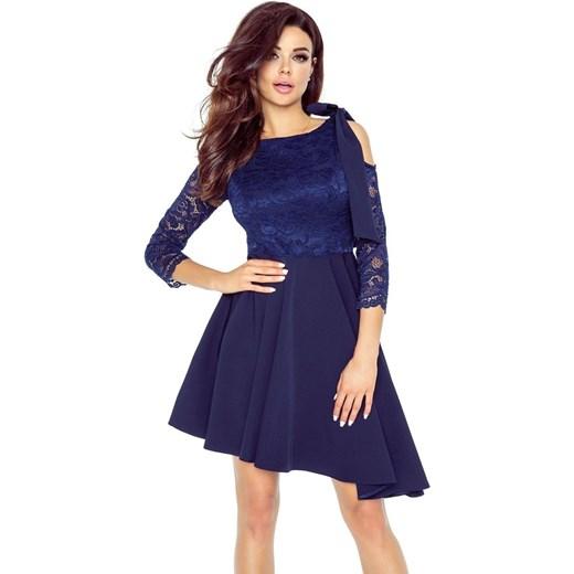 1a84cdbe19 NEVA asymetryczna sukienka z koronkową górą GRANAT Bergamo merg.pl w ...