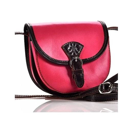 fa55623efa075 Skórzana mała torebka na długim pasku. PICCOLA laza czerwony listonoszki ...