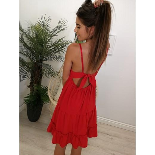 f2b10a4f51 ... Czerwona sukienka Margaret uniwersalny Moda For You