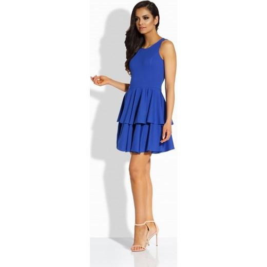 cecd8a2463 ... Elegancka sukienka z podwójną falbaną chabrowa Lemoniade L merg.pl ...