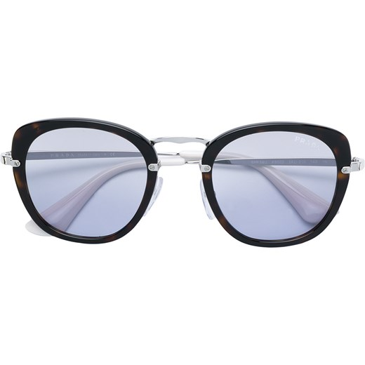 5e53e1ab3954e Prada Eyewear oversized cat-eye sunglasses - Black Prada Eyewear 49  okazyjna cena Farfetch ...