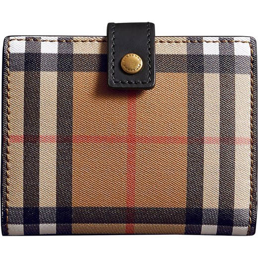 376de4130ee18 Burberry Small Vintage Check and Leather Folding Wallet - Black Burberry  One Size Farfetch ...