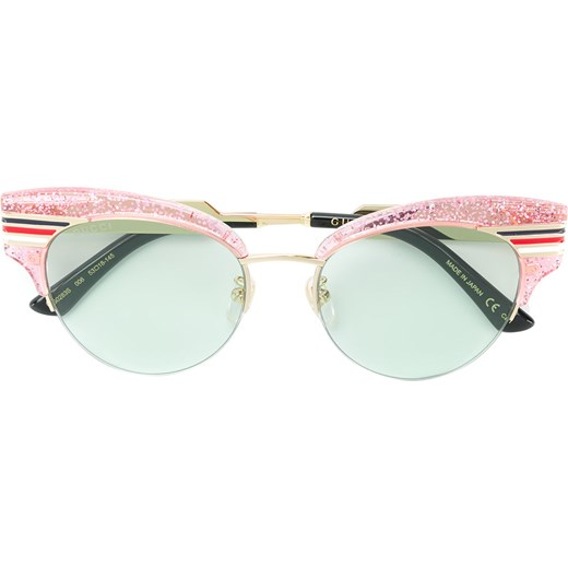 c72ee0a7288c2 Gucci Eyewear cat eye glitter acetate sunglasses - Pink   Purple Gucci  Eyewear 40 Farfetch ...