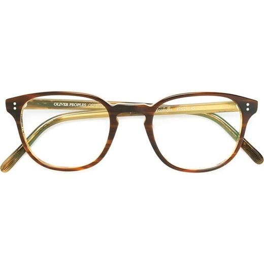 d8d7a7440e7 Oliver Peoples Fairmont glasses - Brown Oliver Peoples 49 Farfetch ...