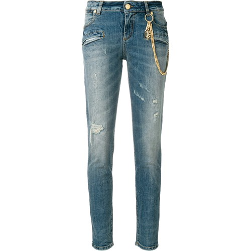 9fb8015666 Pierre Balmain skinny fitted jeans - Blue Farfetch w Domodi