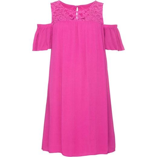 1efc37b42a07 Sukienka z koronką i wycięciami na ramionach  must have BODYFLIRT 54 bonprix