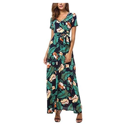 8183b10ce1 kormei damskie kwiaty maxi sukienka bohema Lang sukienki Boho sukienka  letnia sukienka plażowa impreza