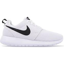detailed look a8ec4 12fce Buty sportowe damskie Nike roshe bez wzorów białe sznurowane eleganckie