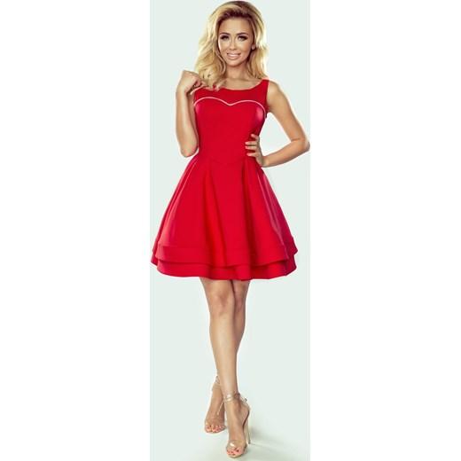 893947ed65 Elegancka rozkloszowana czerwona sukienka - Paloma Imesia w Domodi
