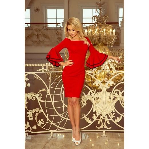 b3caba42dd ... 188-1 CARMEN sukienka z hiszpańskimi rękawkami - CZERWONA Numoco L  MyButik.pl ...