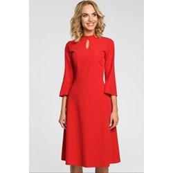 3eff077754 Czerwone sukienki na studniówkę długi rękaw