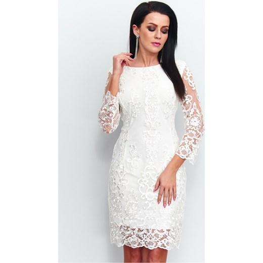 9dc3e58c2a Efektowna sukienka z koronki r-122 42 (XL) JestesModna.pl ...