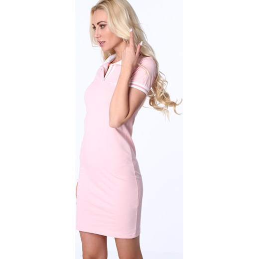 98499a854a Sukienka polo jasnoróżowa 3810 fasardi fasardi.com w Domodi