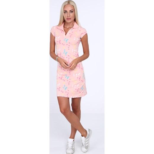 416806550e ... Sukienka polo w motylki jasnoróżowa 7690 fasardi XL fasardi.com ...