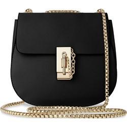 f39c46d9e4cb2 Szykowna listonoszka z eleganckim łańcuszkiem wizytowa torebka damska –  czarny - zdjęcie produktu