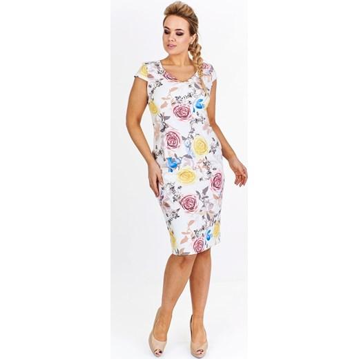99e0527601 Koktajlowa sukienka w kwiaty fokus.pl w Domodi