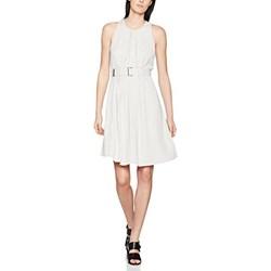 05e010117a Sukienka Won Hundred z okrągłym dekoltem biała na ślub cywilny