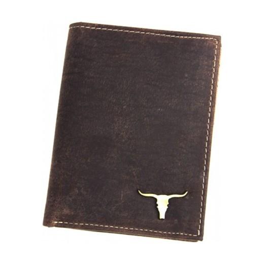 f5880a65066bf Męski portfel skórzany Always Wild Pionowy RM-06-BAW BUFFALO Brązowy Wild  galanter