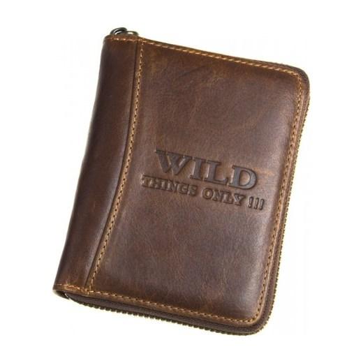 4629ea1b56981 Brązowy męski portfel skórzany Always Wild Zapinany Na Zamek 5508 Wild  galanter