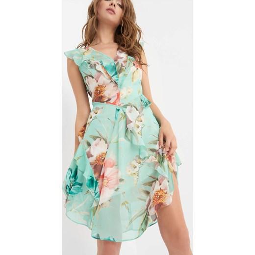 06cd16bcd9d2fe Taliowana sukienka w kwiaty ORSAY orsay.com w Domodi