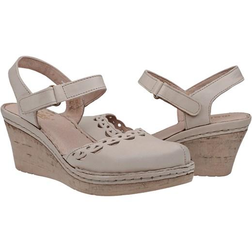 Sandały MANITU 910778 8 Beżowe Ecru