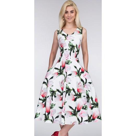c5a2595d6a Sukienka DORA Total Midi Pralinka Livia Clue rozowy w Domodi