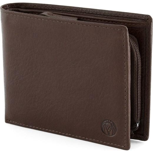 b0faf9e1fc6a3 Brązowy skórzany portfel California z wewnętrznym zapięciem Lucleon  Trendhim ...