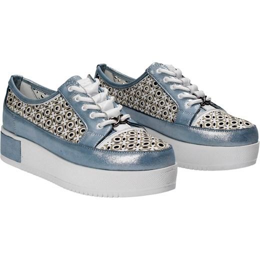 6b7fe095f9c38 Niebiesko Półbuty Shoes Wojtowicz Damskie Domodi Awangarda Mawo W Białe  wBqFwZgWO