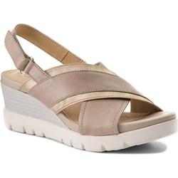 954f437c Brązowe sandały na koturnie geox, lato 2019 w Domodi