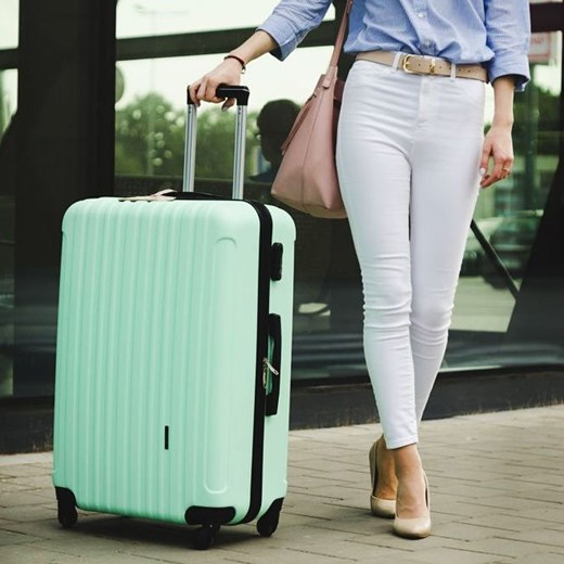 e34ded2138379 ... Duża walizka podróżna na kółkach SOLIER STL2011 L ABS miętowa Solier  Skorzana.com ...