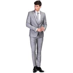 8774192b81201 Szare garnitury męskie, lato 2019 w Domodi