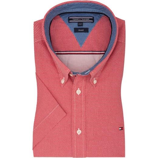 e2006c1b3b492 Tommy Hilfiger, Koszula sportowa w modny wzór, z krótkim rękawem Czerwony  für Herren Tommy