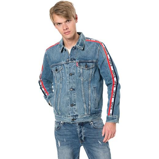 d45b064e286e2 Kurtka męska Levis z jeansu z napisem młodzieżowa w Domodi