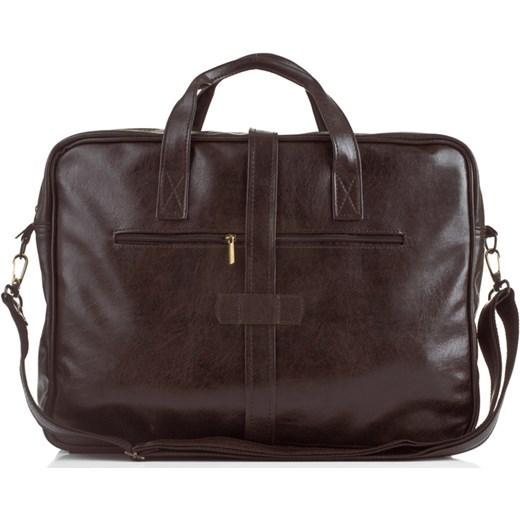 a20899870d78e SOLIER S10 oldschool brązowa torba męska na ramię, torba na laptopa 17 cali  skorzana- ...
