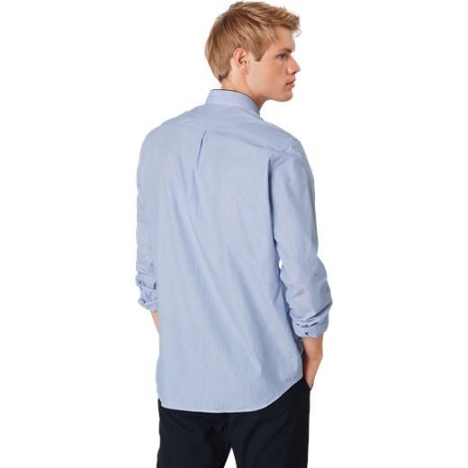 d9d1a76ec ... Koszula męska The Kooples Sport bez wzorów niebieska elegancka ze stójką  ...
