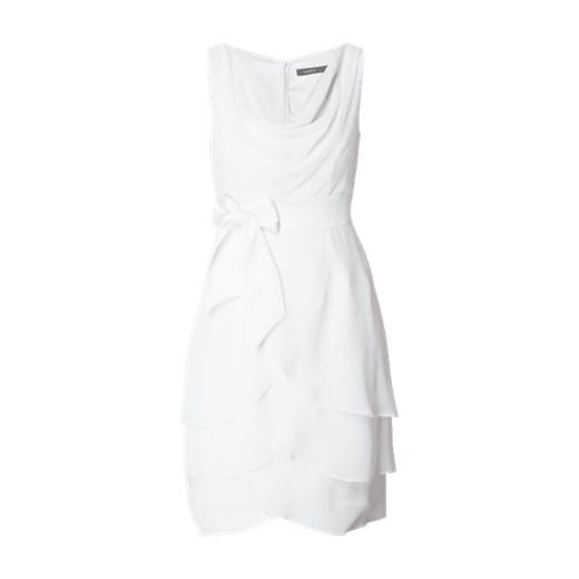 7d6ff6b233 Sukienka koktajlowa z szyfonu z ozdobną kokardką Marie Noir 40 Fashion ID  GmbH   Co.