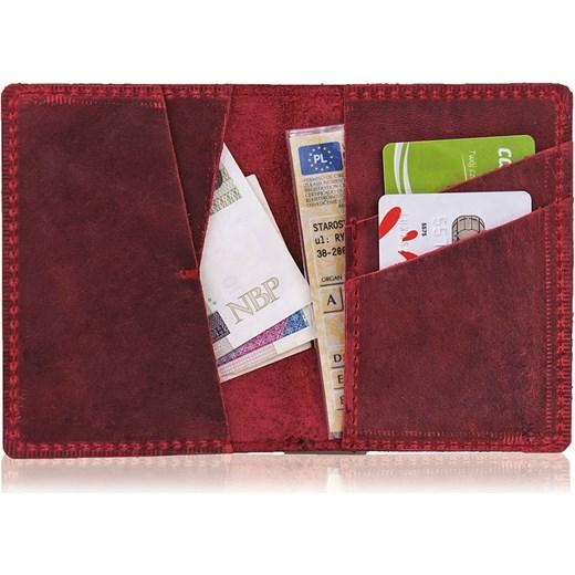 3b0d6f95de3e9 ... Skórzany cienki portfel slim wallet BRODRENE SW07 czerwony Brødrene  Skorzana.com