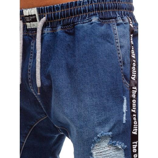 e2fc83c2 Denley 2045 Domodi Baggy Jeansowe Granatowe Spodnie W Męskie w87XIRxOq