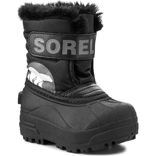 1f57be79 Śniegowce SOREL - Toddler Snow Commander NV1877/1638112010 Black/Charcoal  Sorel 22 eobuwie.