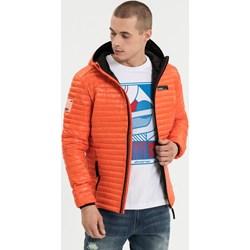 2755fb6c20930 Pomarańczowe kurtki męskie pikowane diverse, wiosna 2019 w Domodi