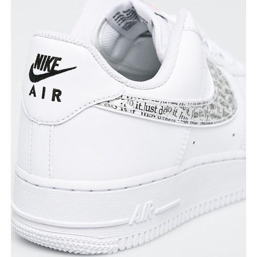 99698dc09537f ... Białe buty sportowe męskie Nike Sportswear air force sznurowane  skórzane ...