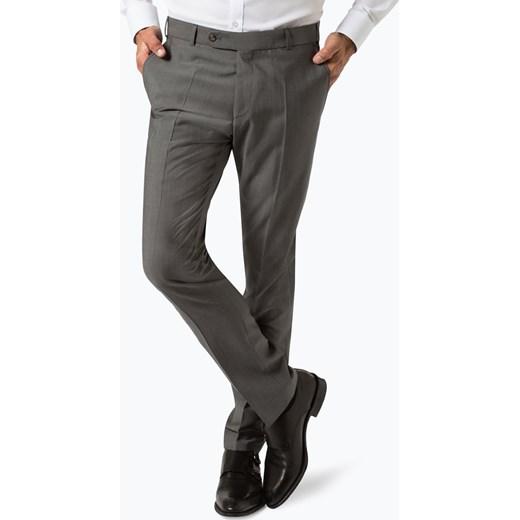 83b50e212888f Wilvorst - Męskie spodnie od garnituru modułowego z dodatkiem moheru, szary  Wilvorst 94 vangraaf