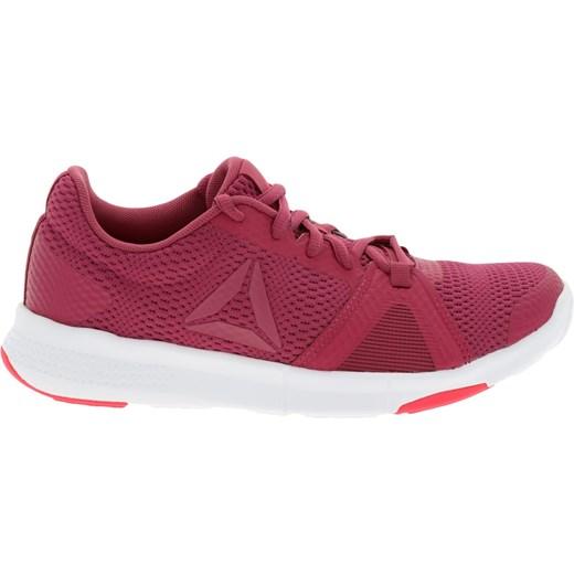 6fd64e31b471c Buty sportowe damskie Reebok do biegania na koturnie sznurowane w  geometryczny wzór skórzane