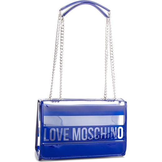 8b1867b8a3ea5 Torebka LOVE MOSCHINO - JC4308PP05KP170A Pu Blu Love Moschino wyprzedaż  eobuwie.pl