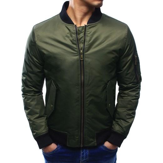Kurtka męska bomber jacket khaki (tx1930) Dstreet